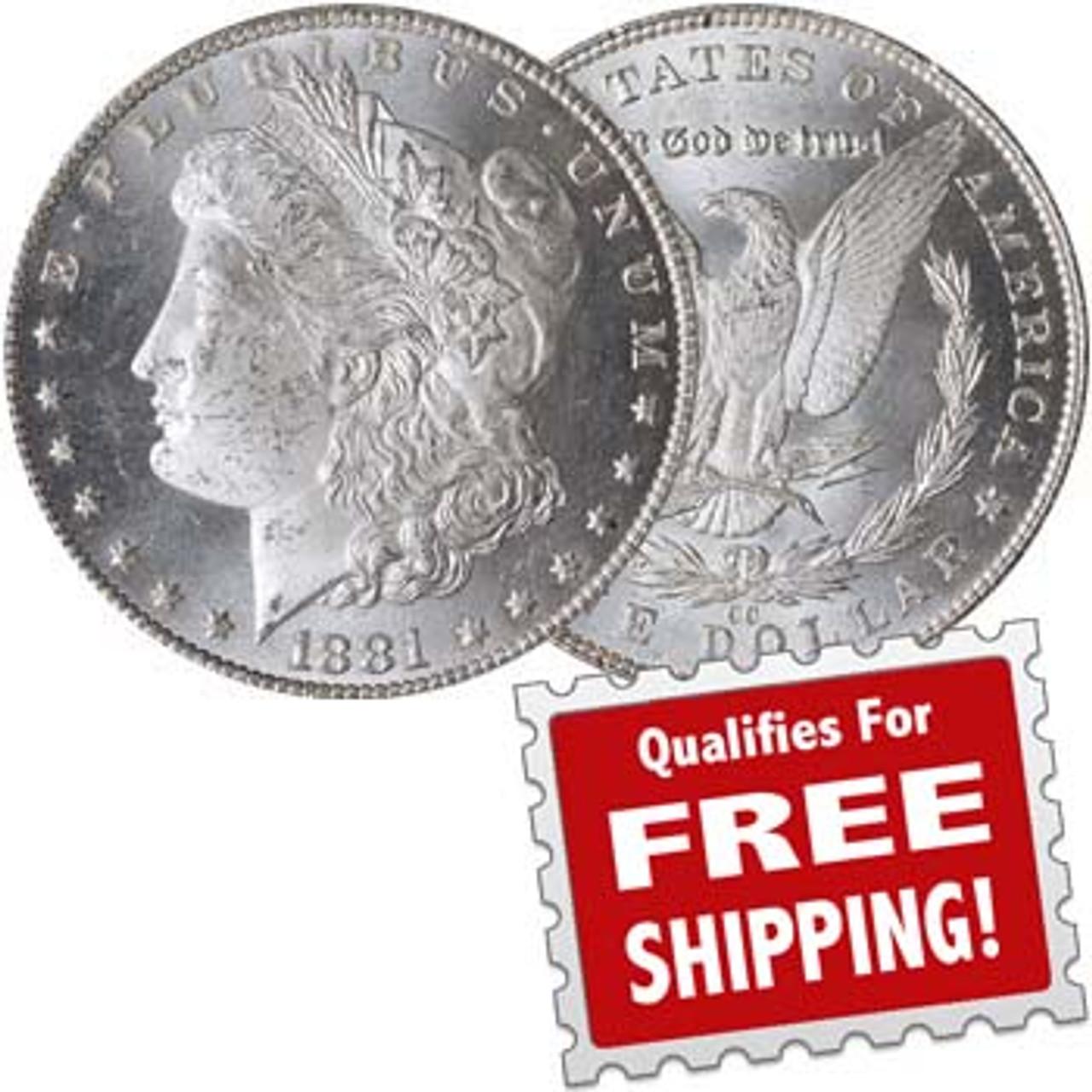 1881-CC Morgan Silver Dollar Brilliant Uncirculated Image 1