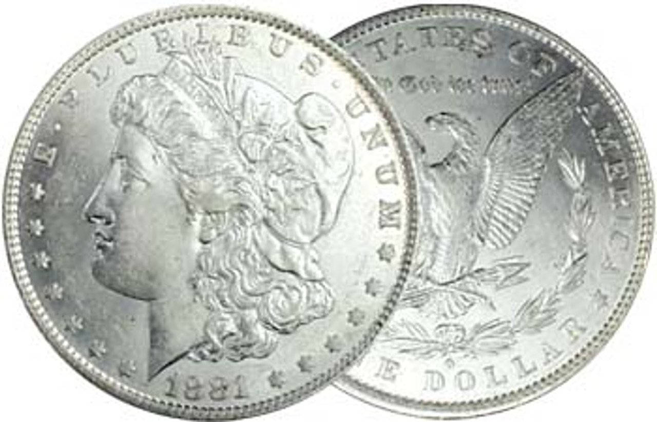 1881-O Morgan Silver Dollar Brilliant Uncirculated Image 1