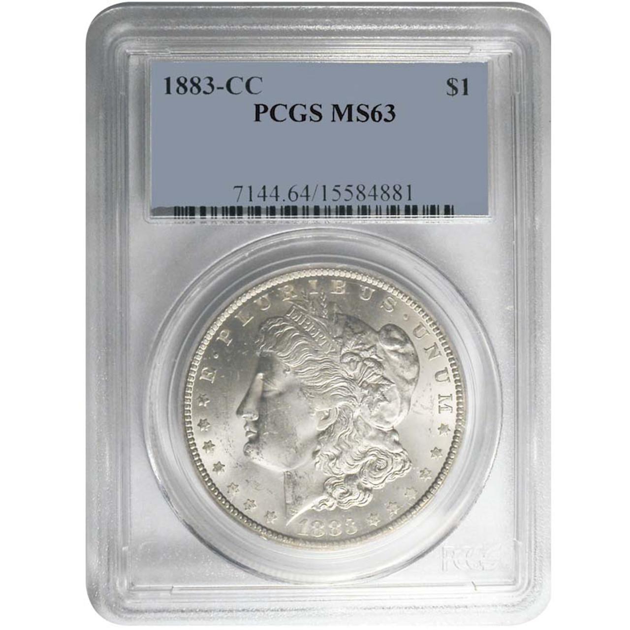 1883-CC Morgan Silver Dollar Certified MS-63 Image 1