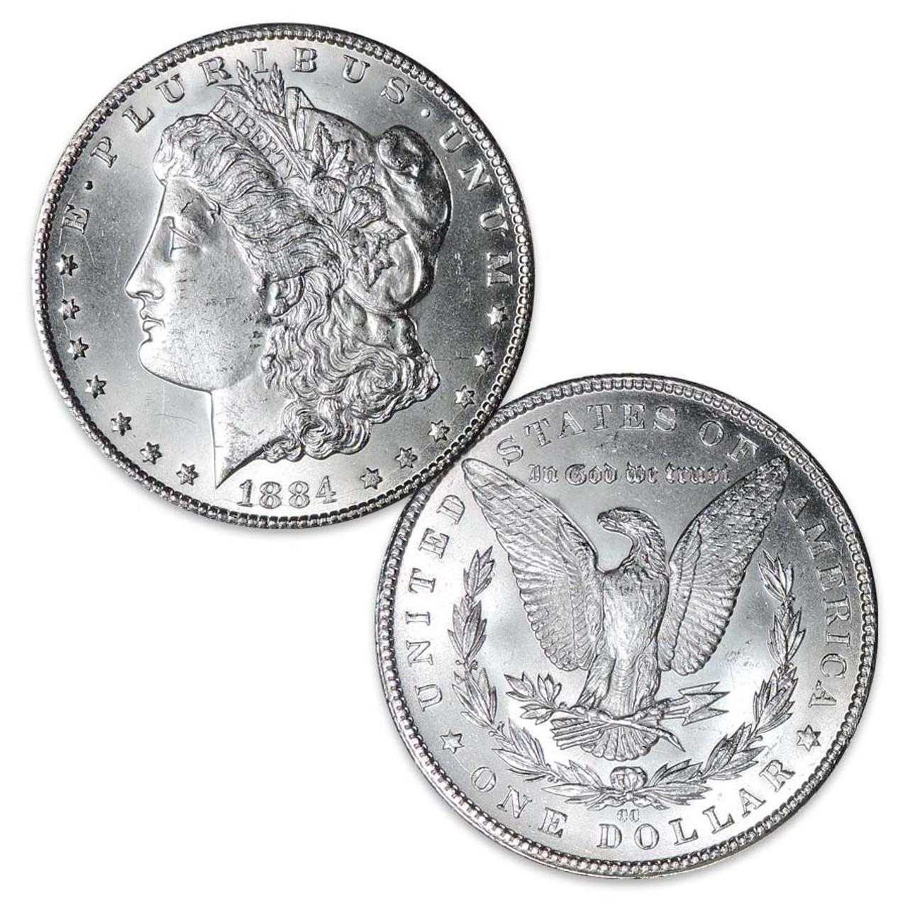 1884-CC Morgan Silver Dollar Brilliant Uncirculated