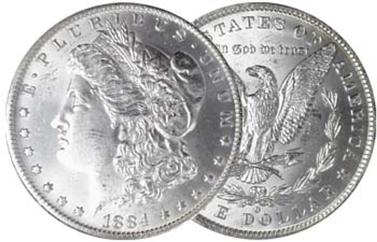 1884-O Morgan Silver Dollar Brilliant Uncirculated Image 1