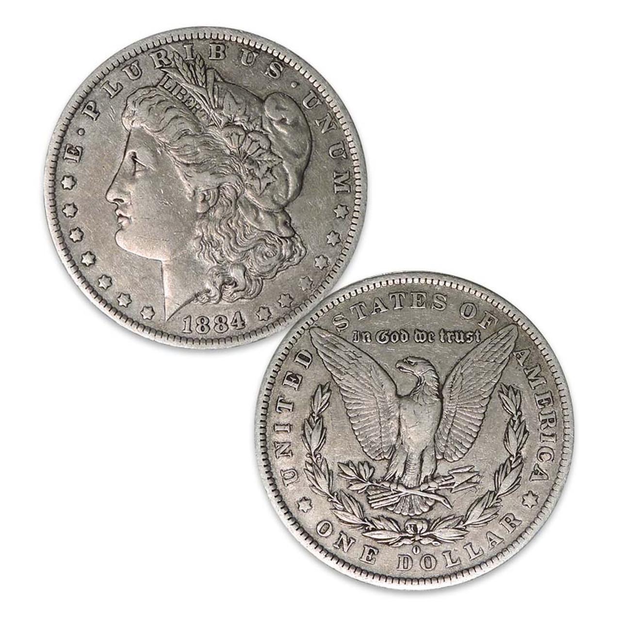 1884-O Morgan Silver Dollar Very Fine Image 1