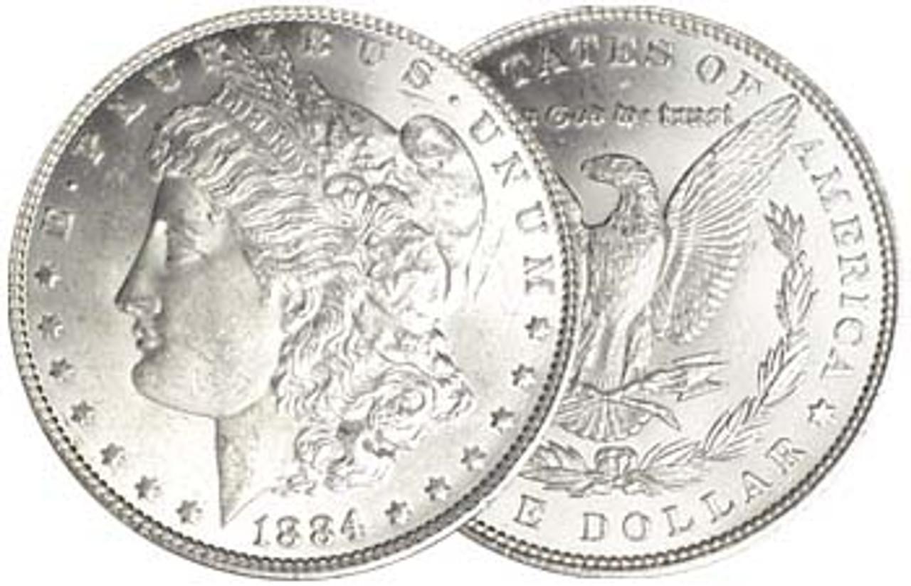 1884-P Morgan Silver Dollar Brilliant Uncirculated Image 1