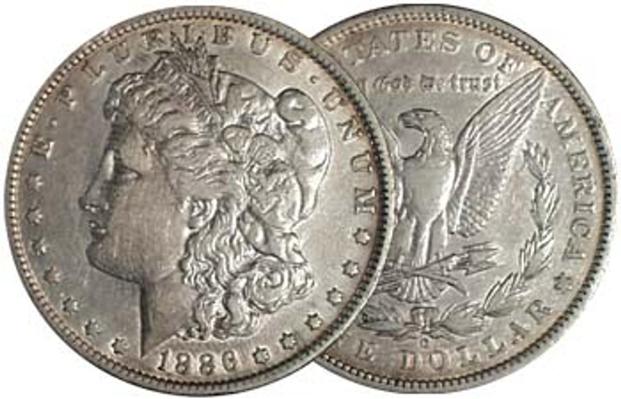 1886-O Morgan Silver Dollar Extra Fine Image 1