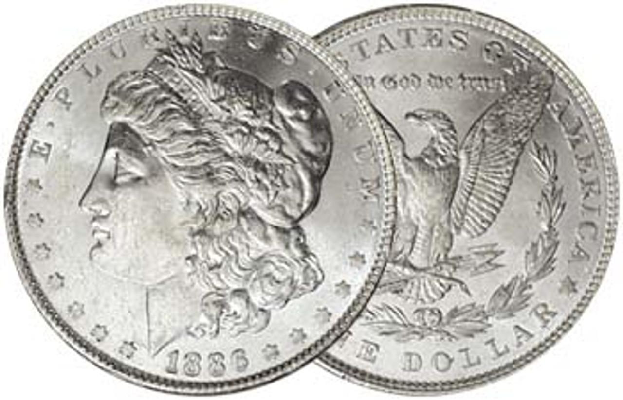 1886-P Morgan Silver Dollar Brilliant Uncirculated Image 1
