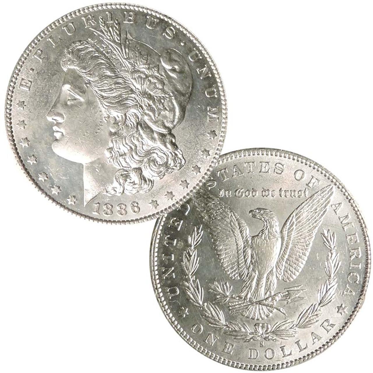 1886-S Morgan Silver Dollar Brilliant Uncirculated Image 1