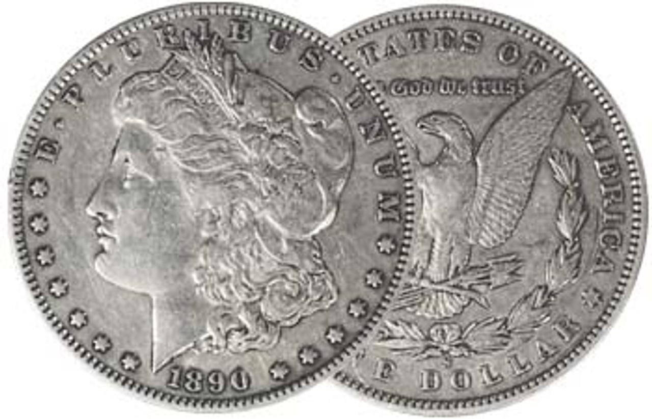 1890-S Morgan Silver Dollar Very Fine Image 1