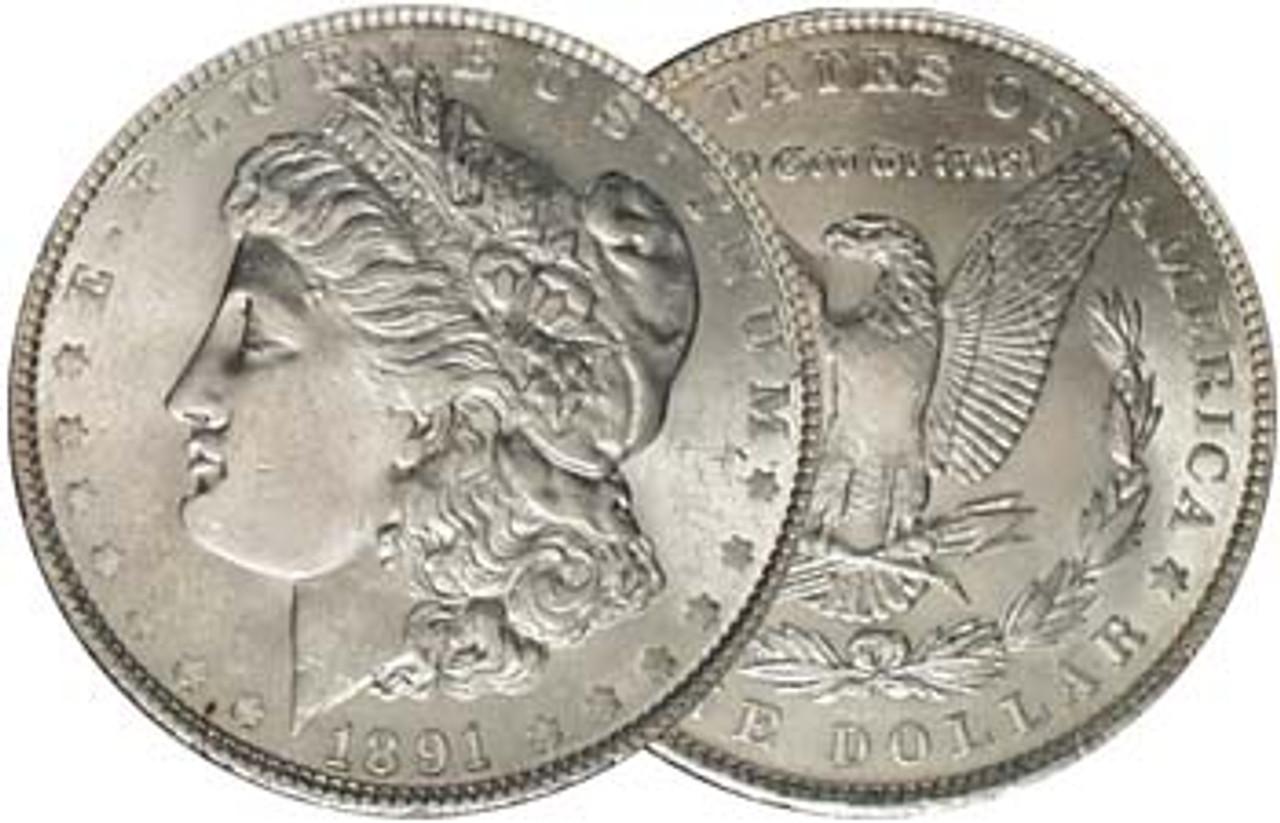 1891-P Morgan Silver Dollar Brilliant Uncirculated Image 1