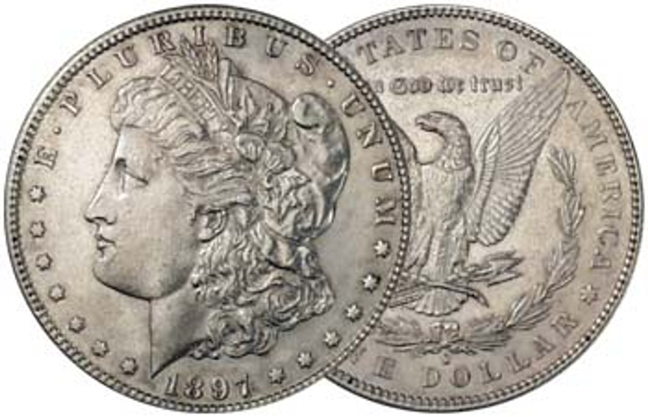 U.S. Morgan Silver Dollar 1897-S About Uncirculated