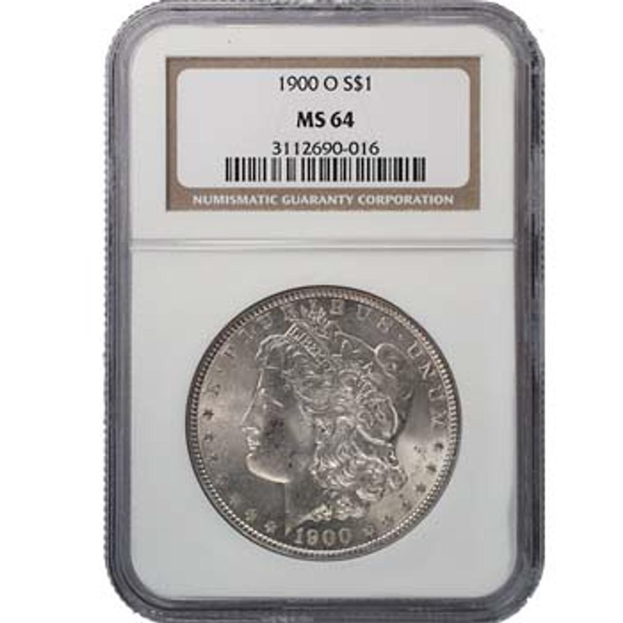 U.S. Morgan Silver Dollar 1900-O Certified MS-64