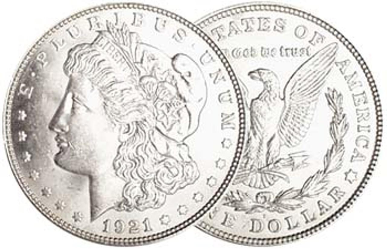 1921-D Morgan Silver Dollar Brilliant Uncirculated Image 1