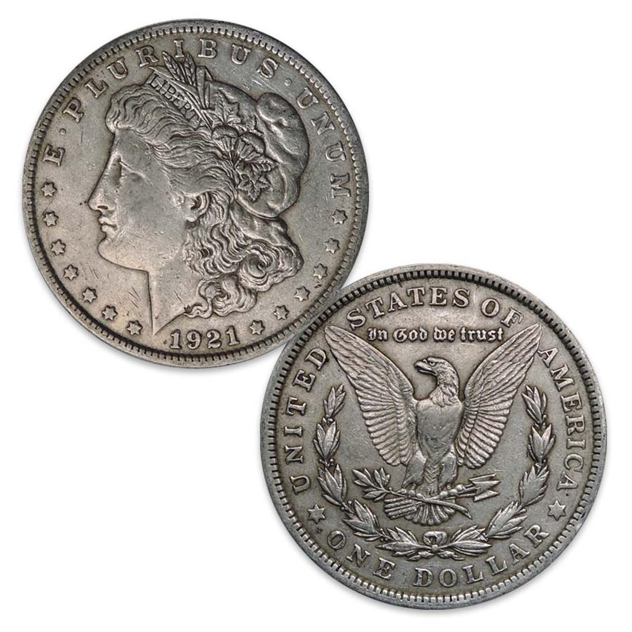 1921-P Morgan Silver Dollar Very Fine Image 1