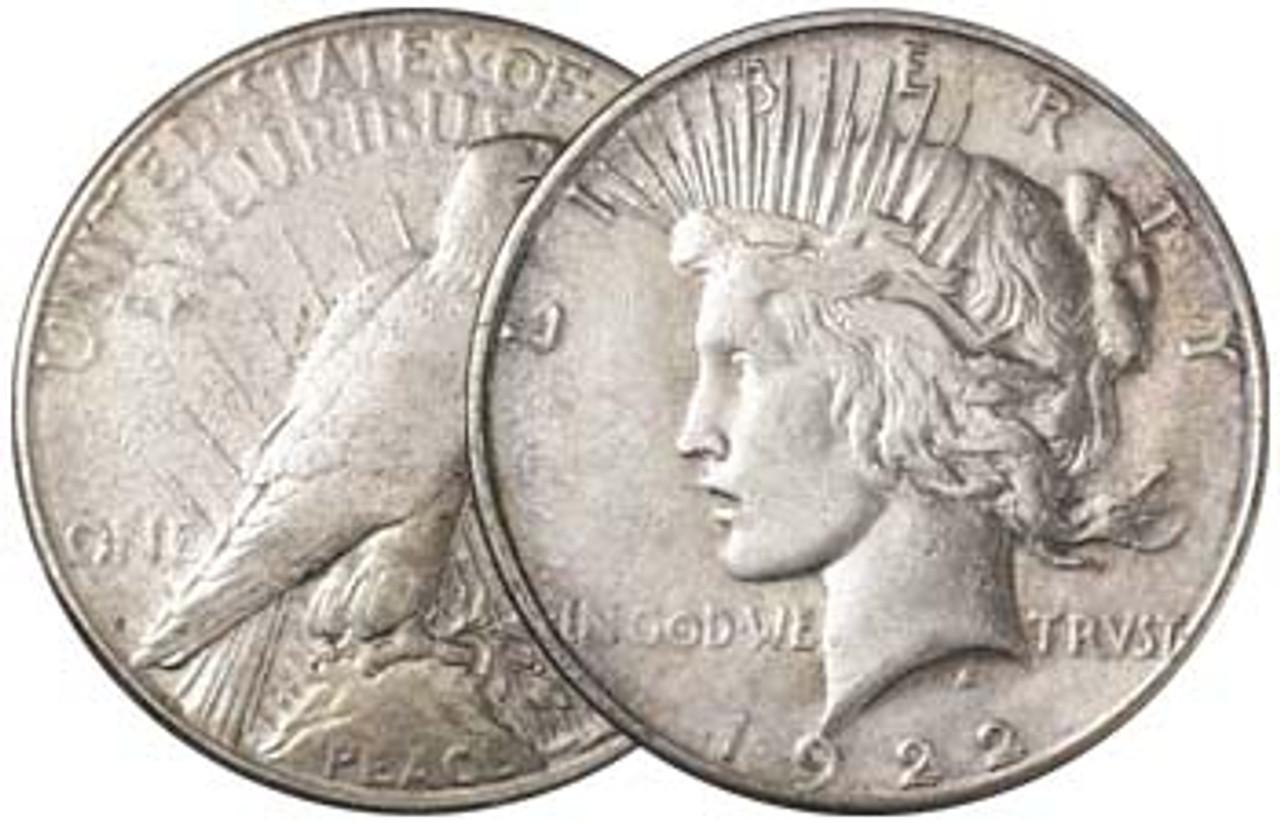 1922-S Peace Silver Dollar Very Fine Image 1