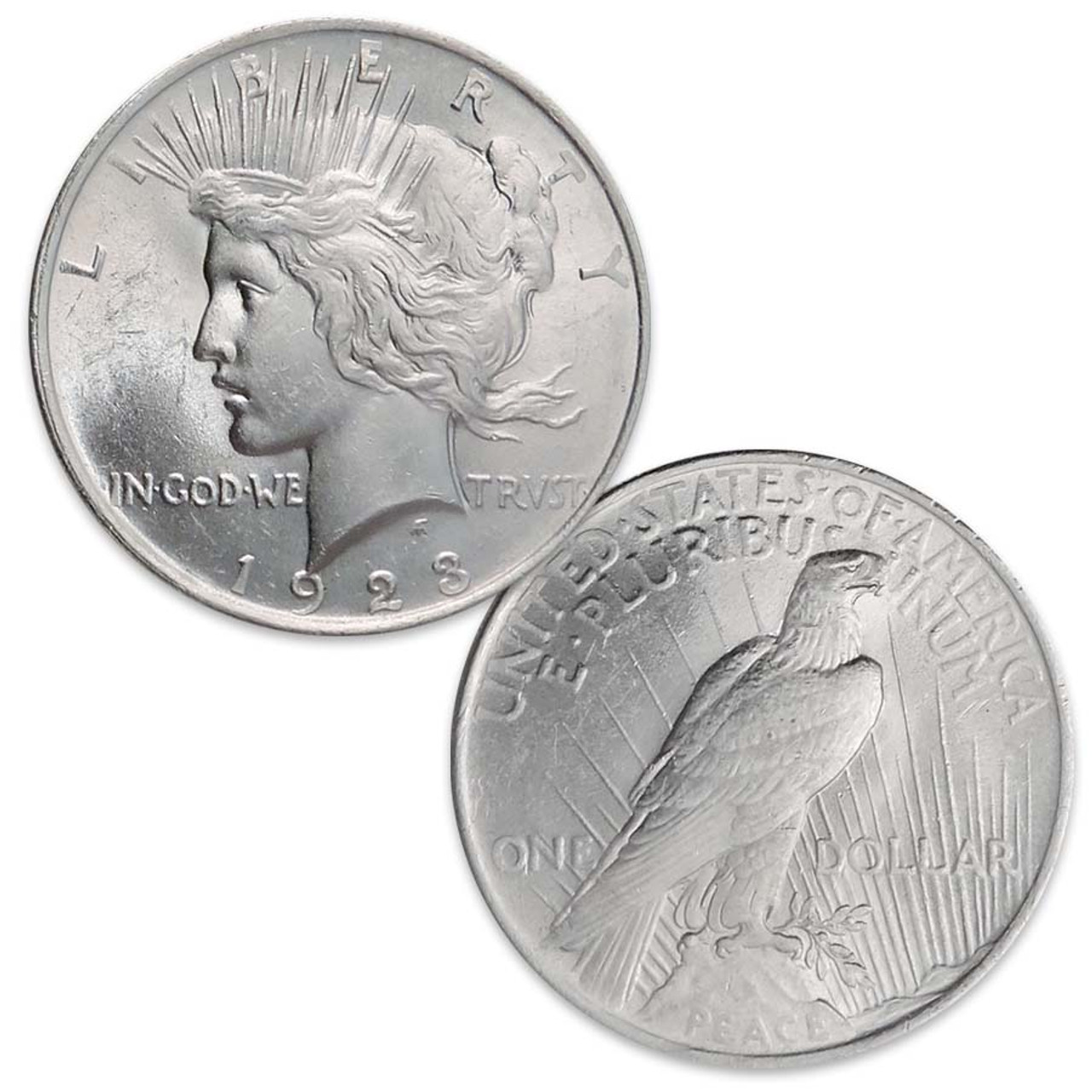 1923-P Peace Silver Dollar Brilliant Uncirculated Image 1