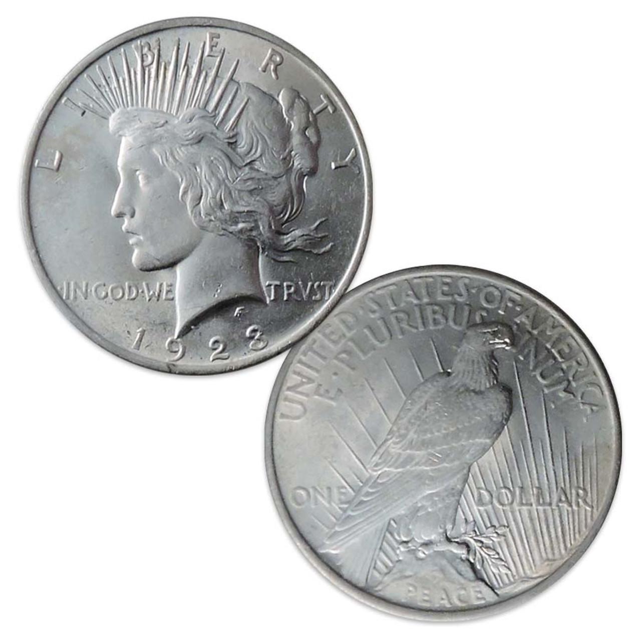 1923-P Peace Silver Dollar Very Fine Image 1