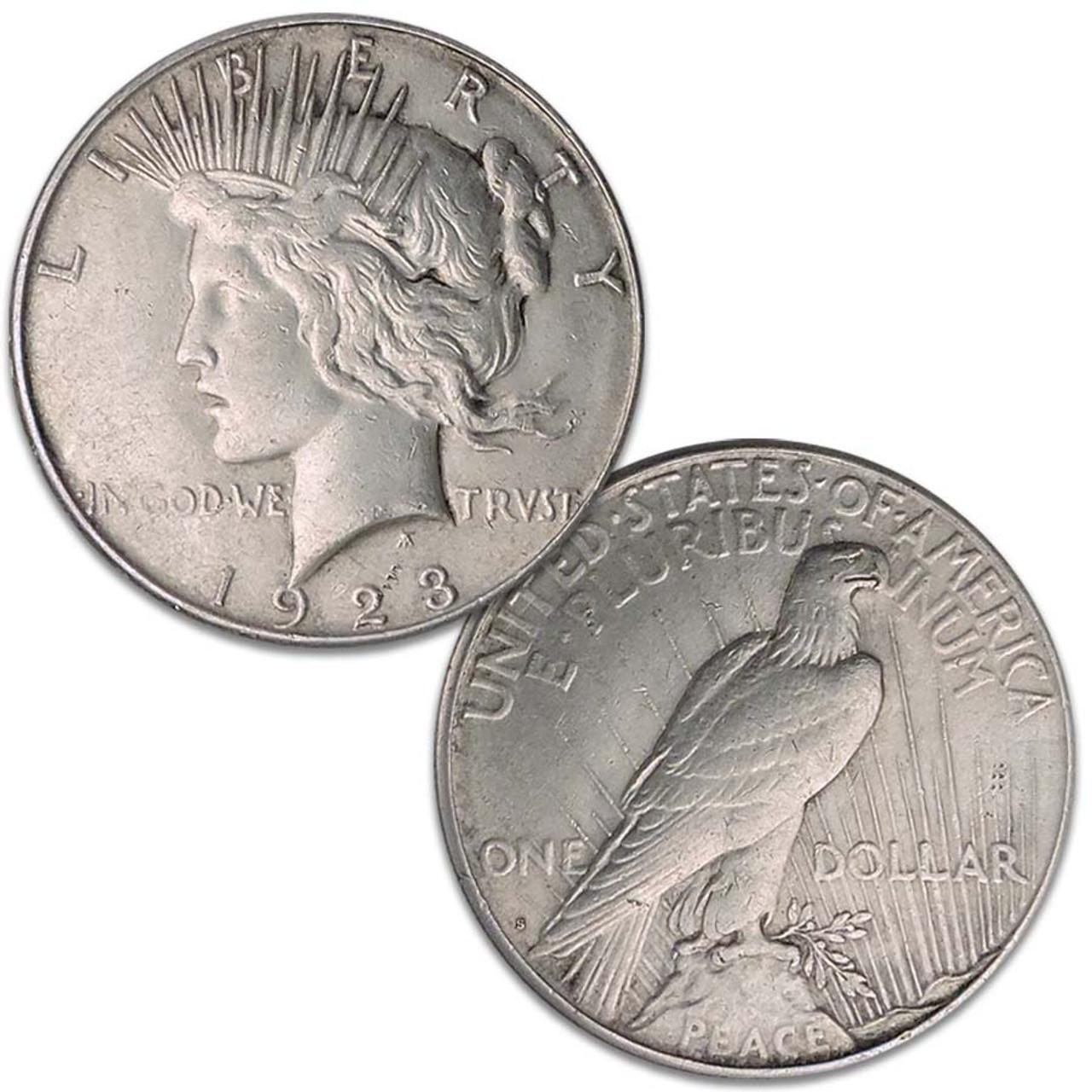 1923-S Peace Silver Dollar Very Fine Image 1