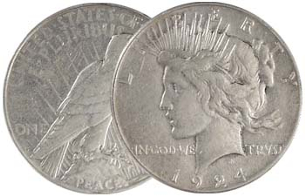 1924-S Peace Silver Dollar Very Fine Image 1