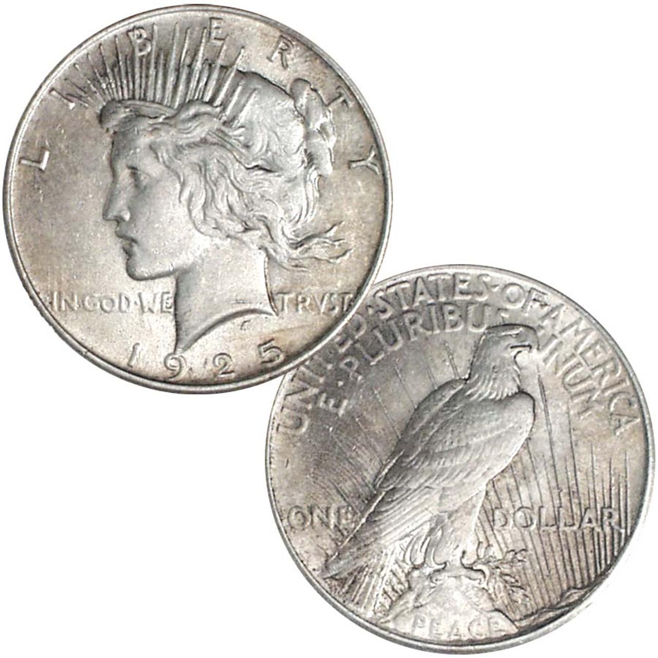 1925-P Peace Silver Dollar Very Fine Image 1
