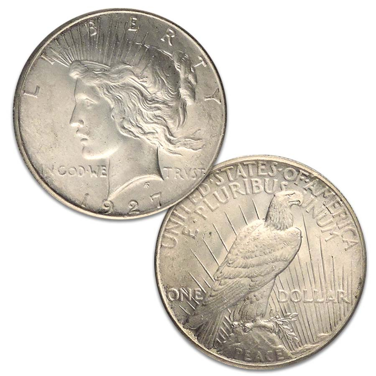 1927-P Peace Silver Dollar Brilliant Uncirculated Image 1