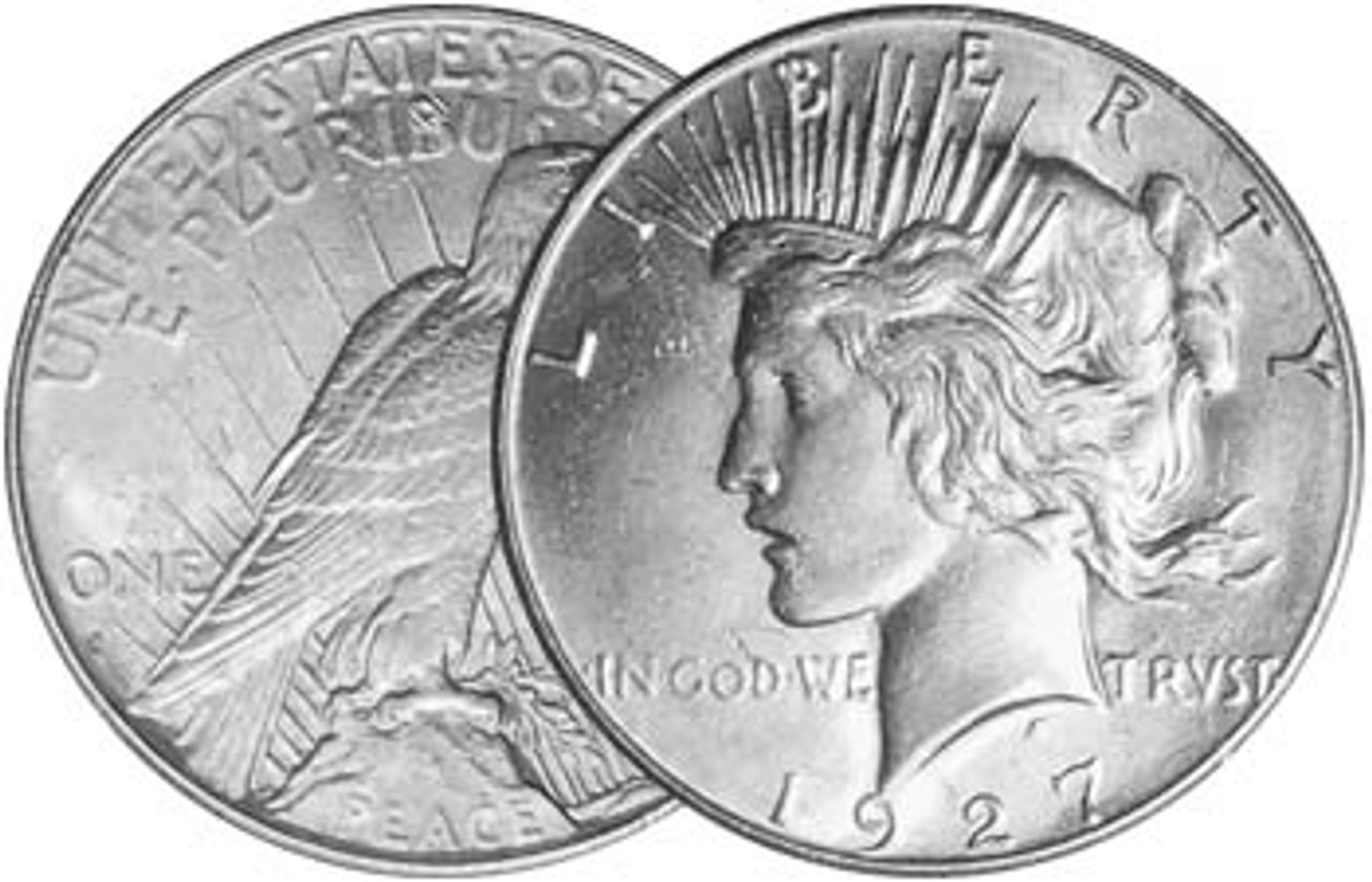1927-S Peace Silver Dollar Brilliant Uncirculated Image 1