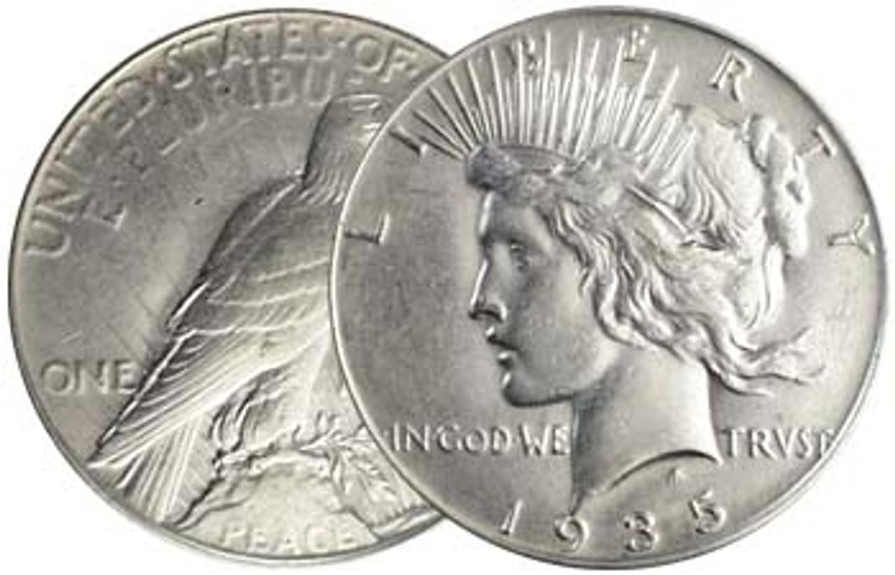 1935-P Peace Silver Dollar Brilliant Uncirculated Image 1