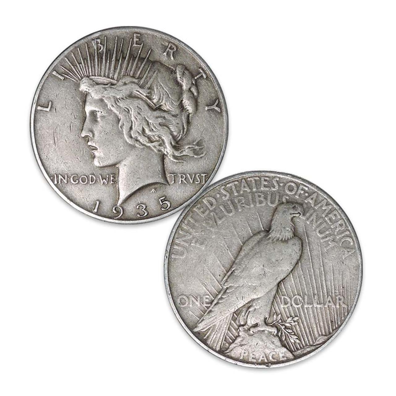 1935-S Peace Silver Dollar Very Fine