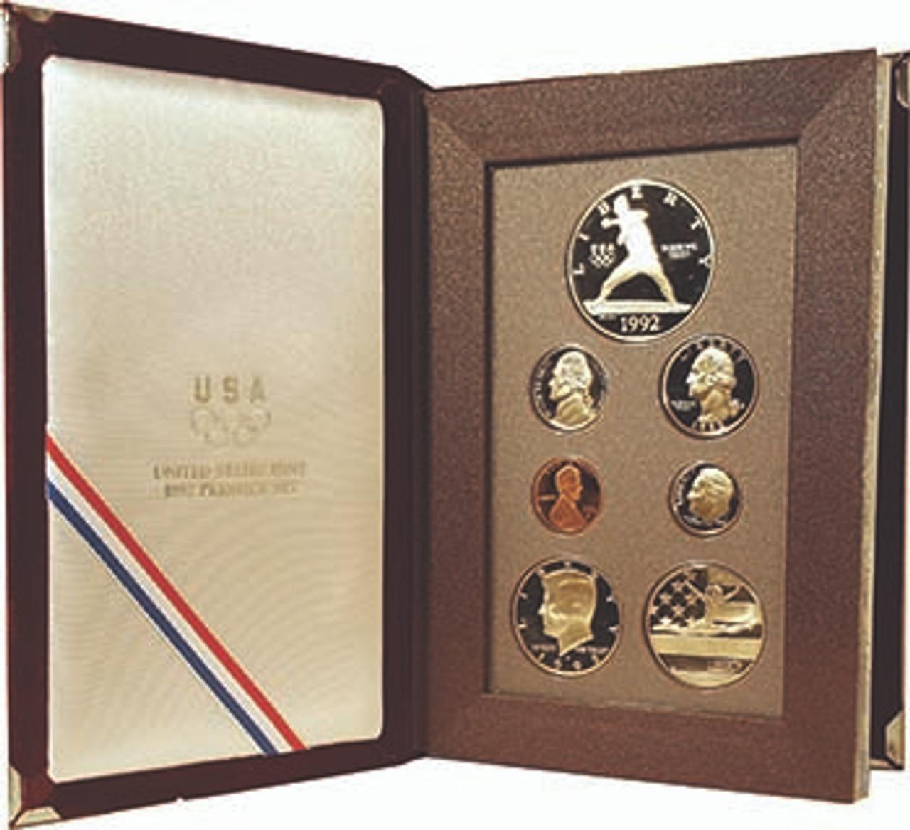 1992 Prestige Proof Set 7 Coins Image 1