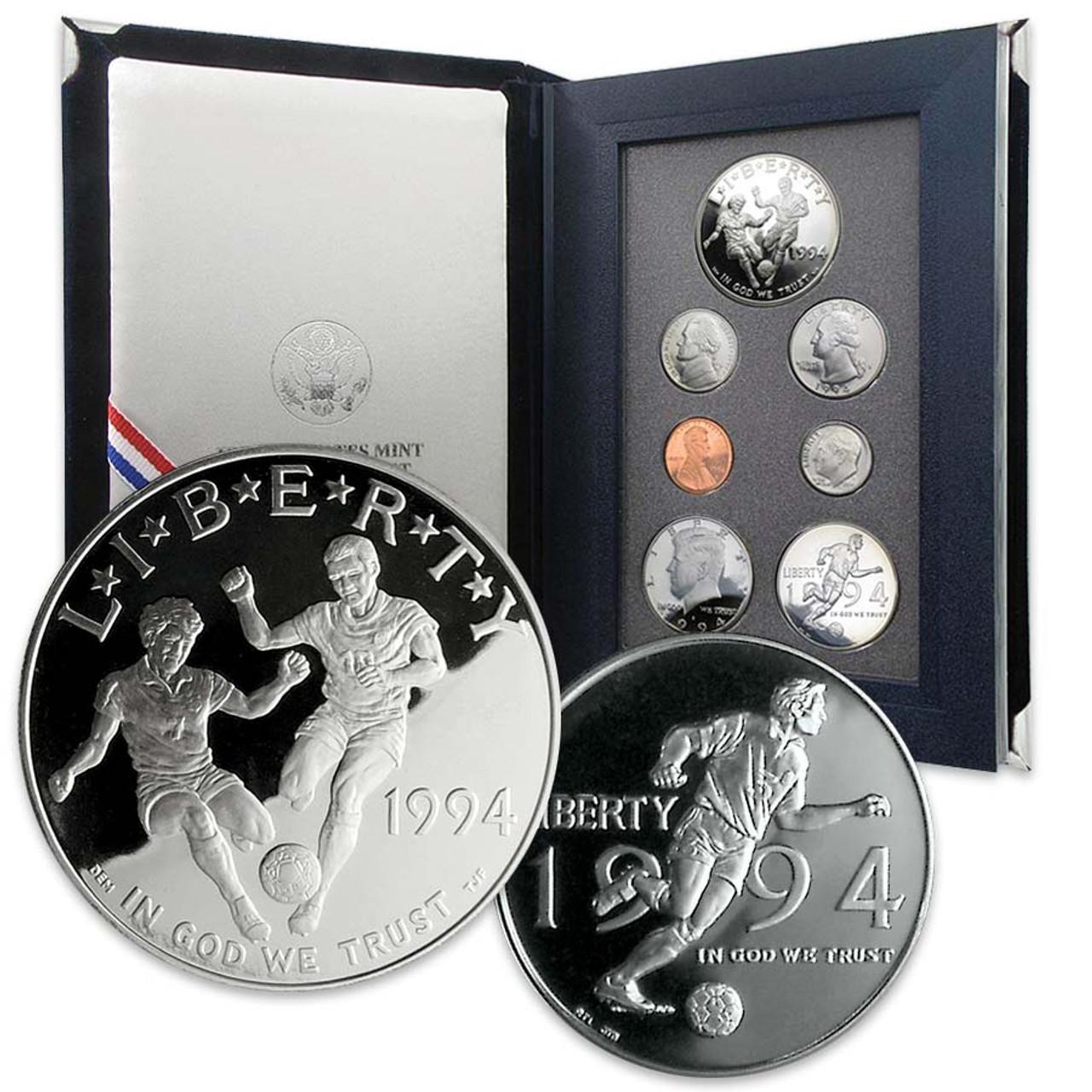 1994 Prestige Proof Set 7 Coins