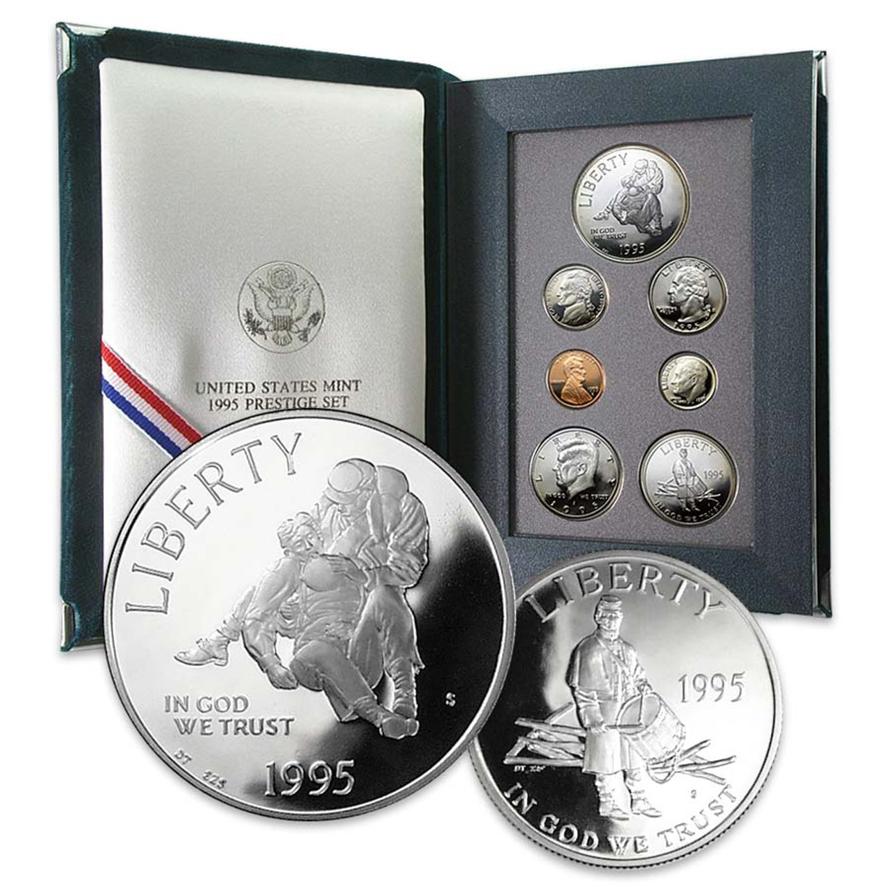 1995 Prestige Proof Set 7 Coins