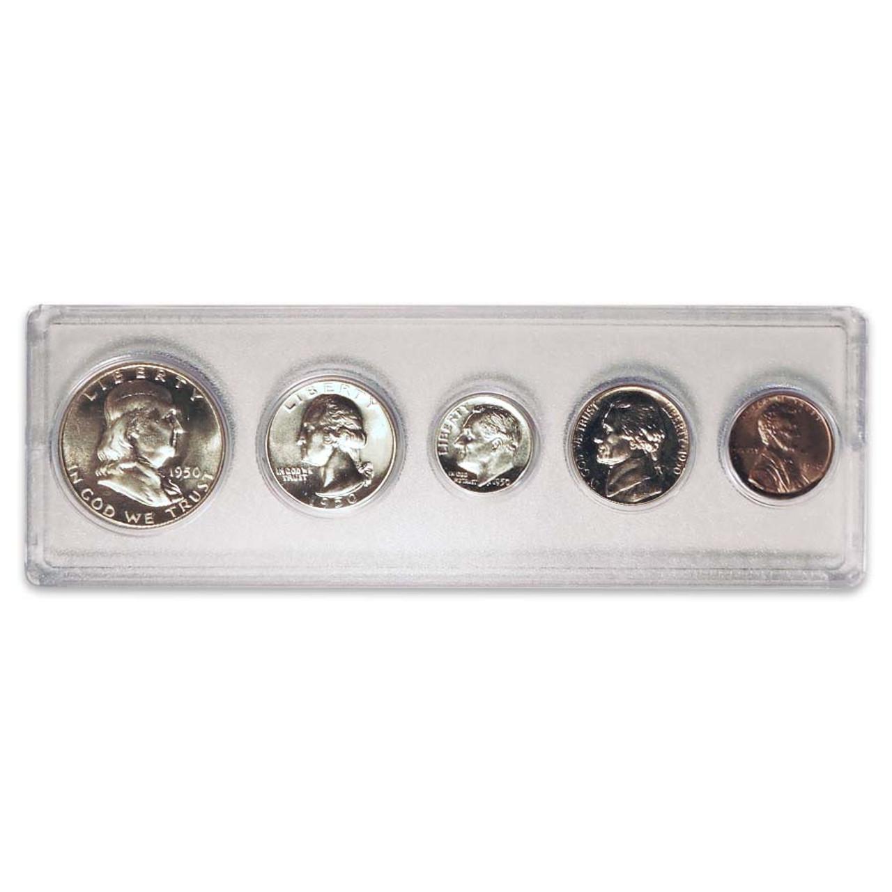 1950 Proof Set 5 Coins Image 1