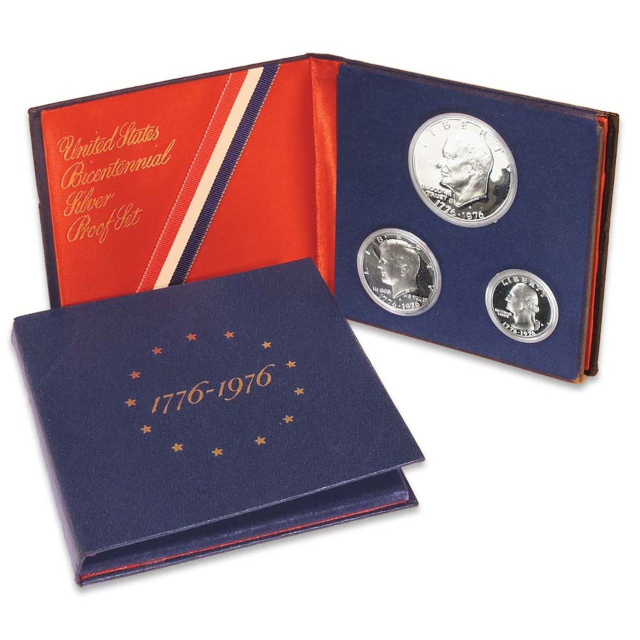 1976 Proof Set 40% Silver 3 Coins Image 1