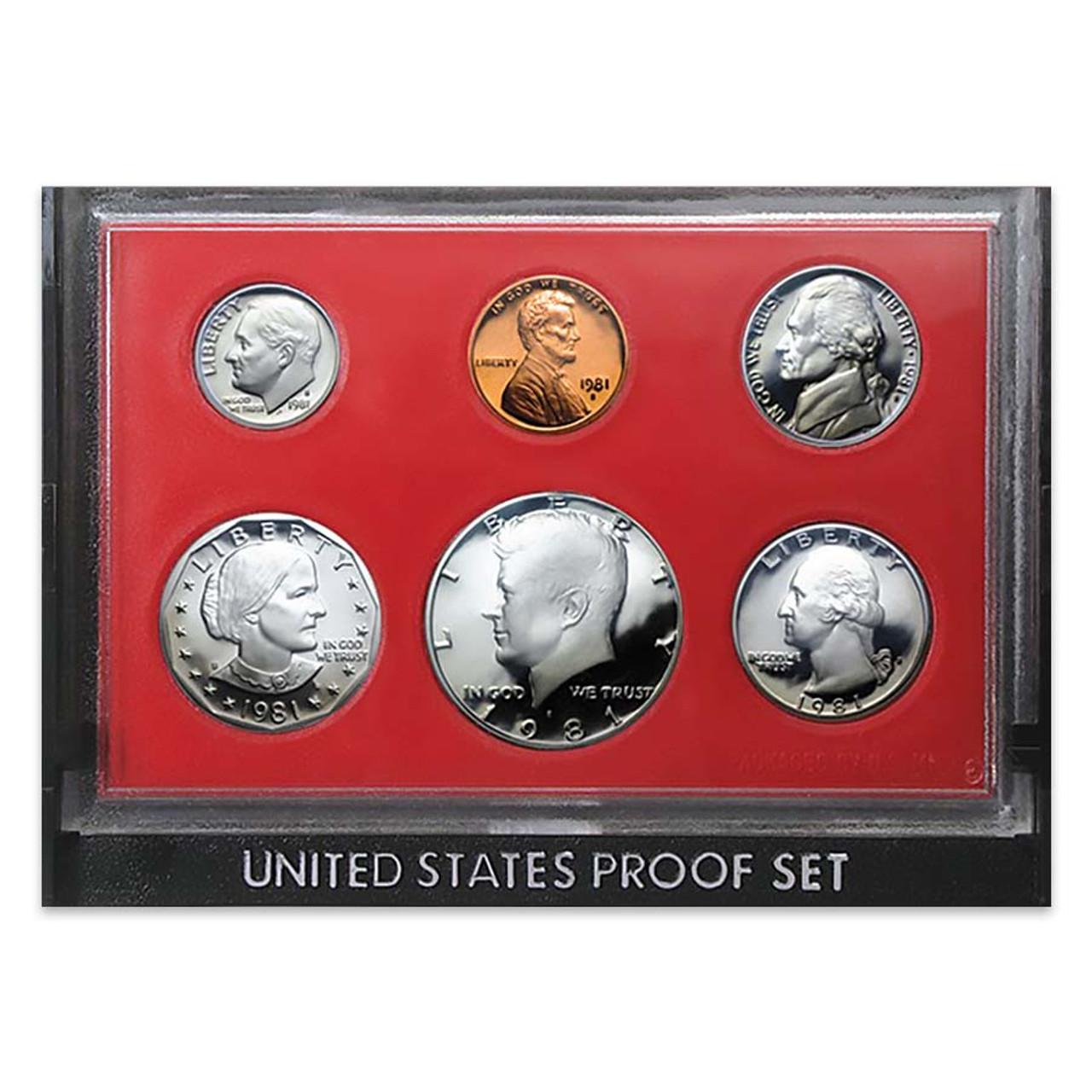 1981 Proof Set 6 Coins