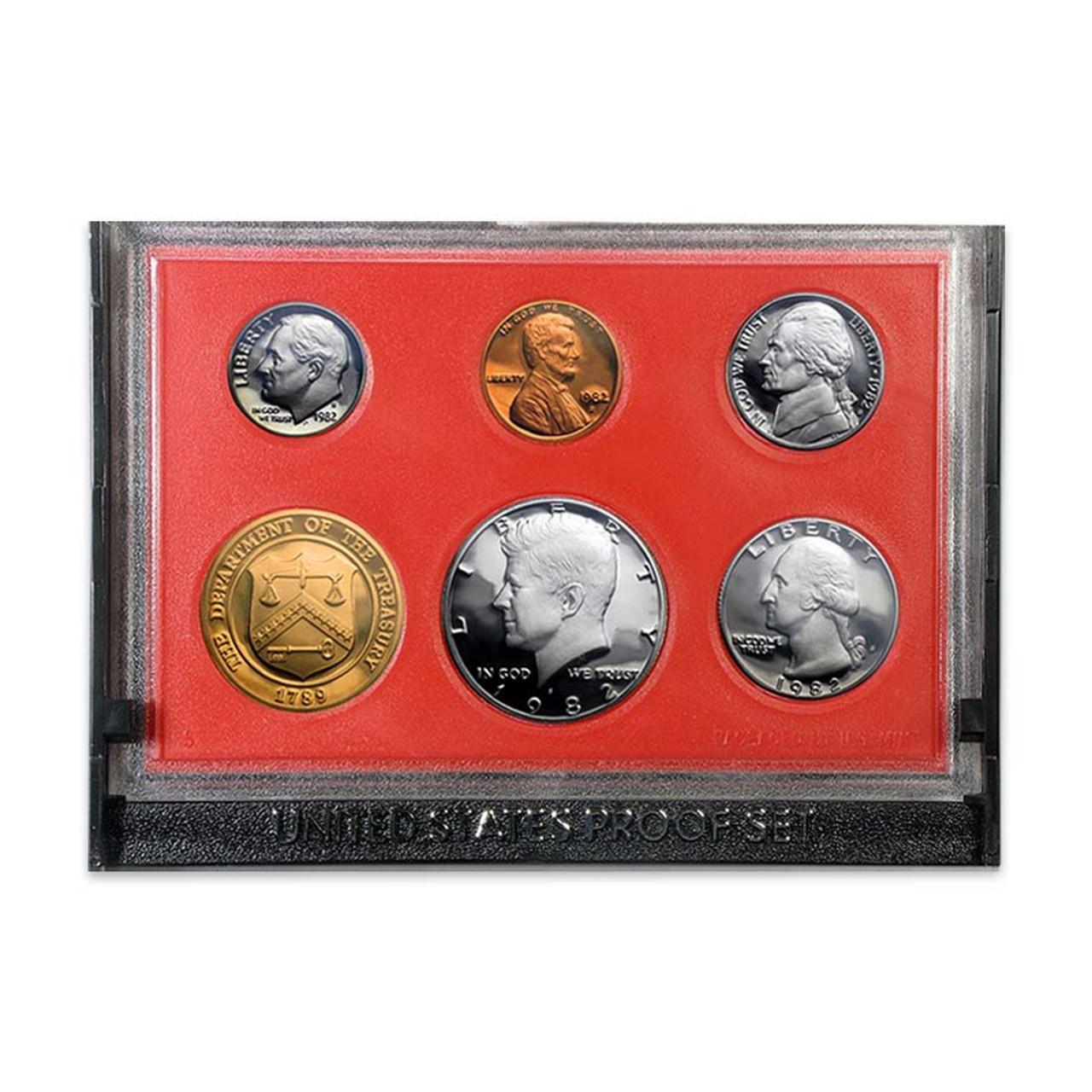1982 Proof Set 5 Coins