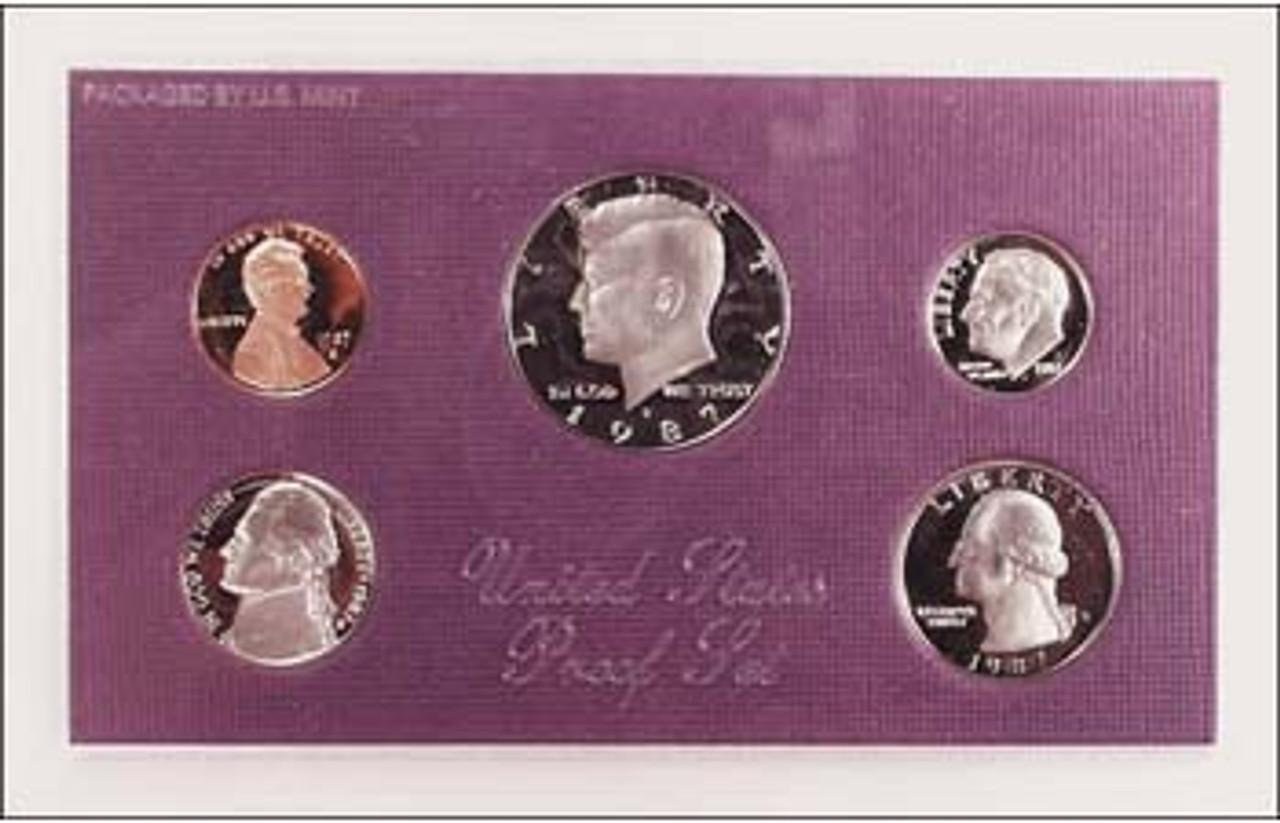 1987 Proof Set 5 Coins Image 1