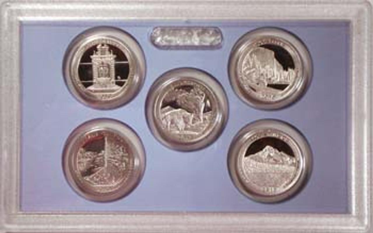 2010 National Parks Quarter Proof Set 5 Coins Image 1