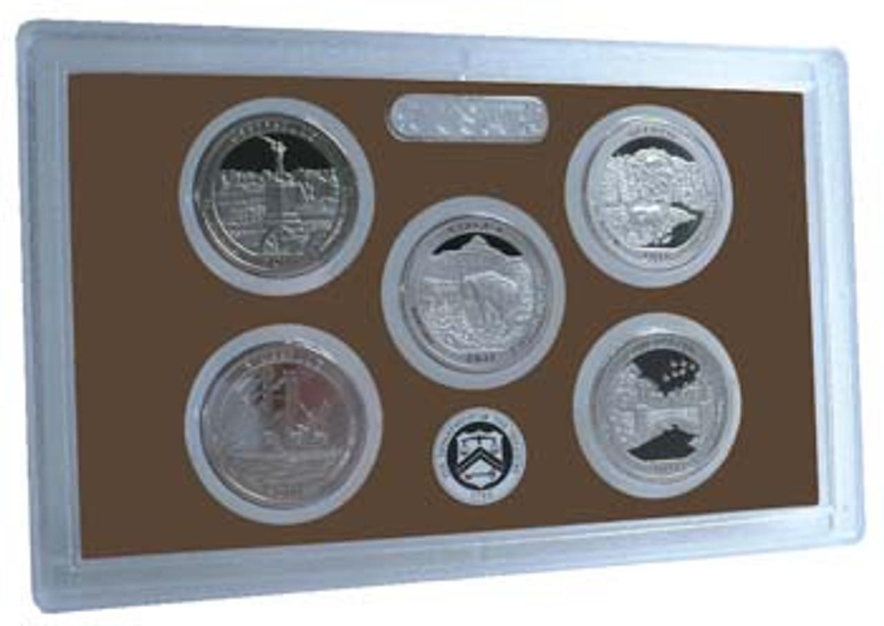 2011 National Parks Quarter Proof Set 5 Coins Image 1