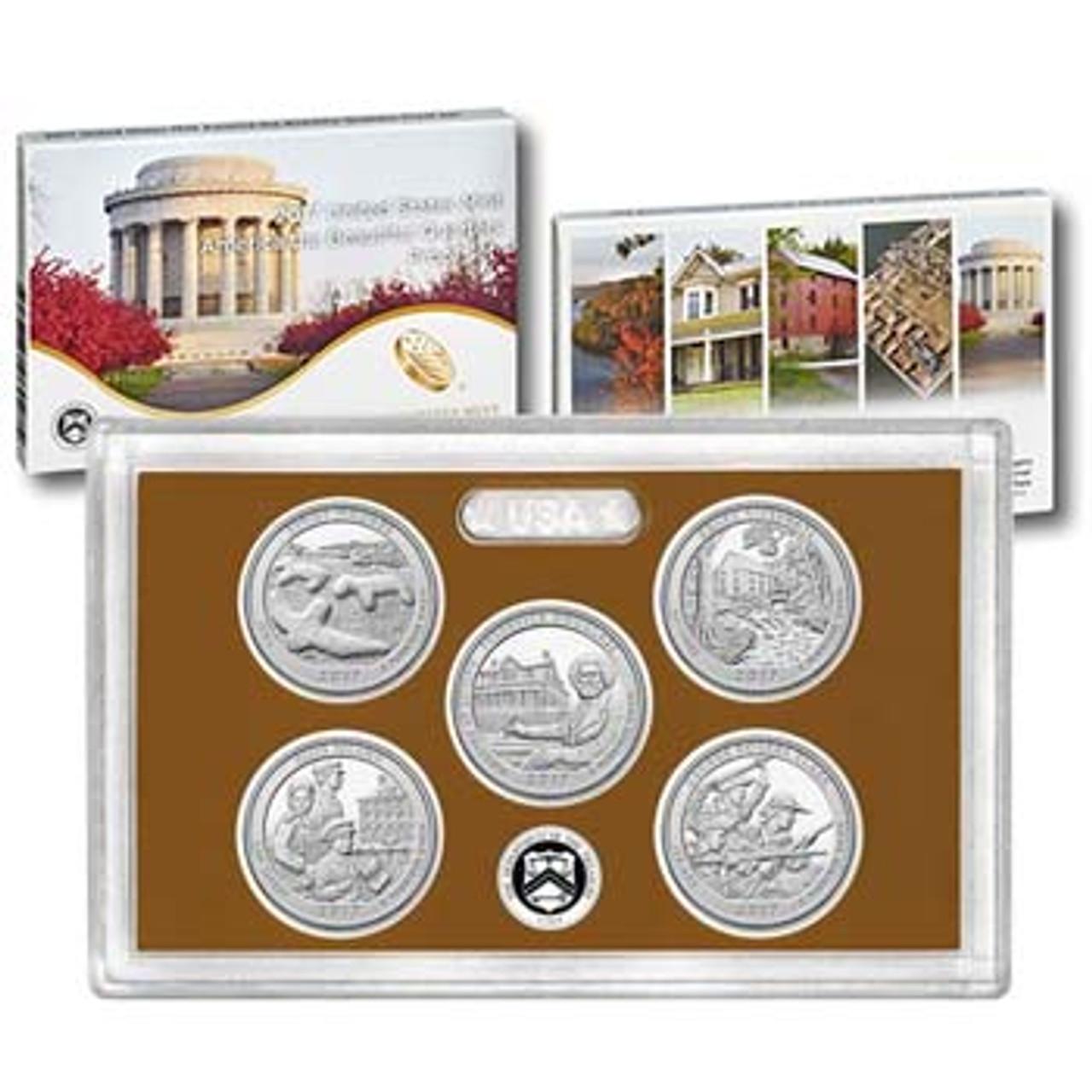 2017 National Parks Quarter Proof Set 5 Coins Image 1