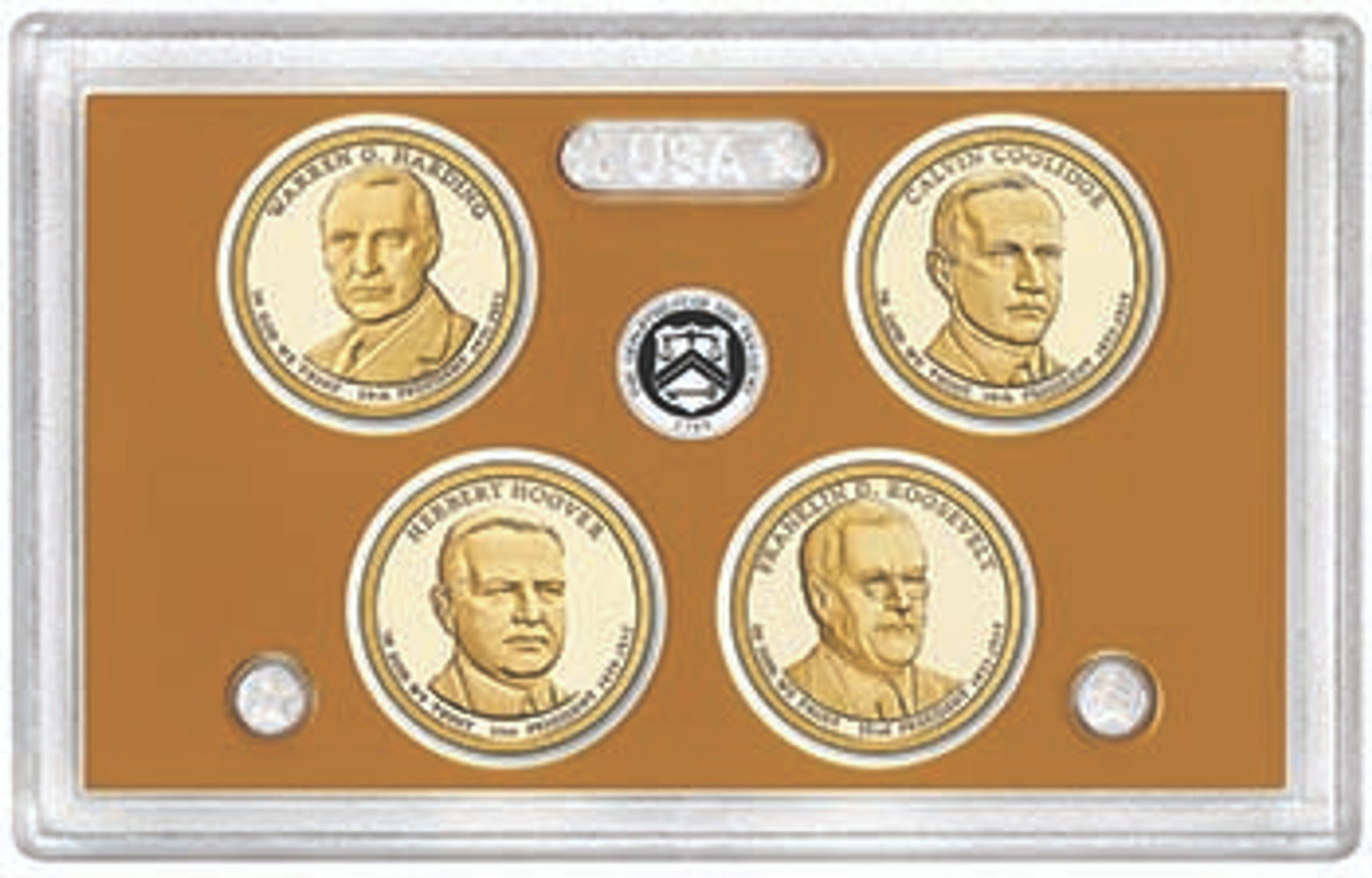 2014 Presidential Dollar Proof Set 4 Coins Image 1