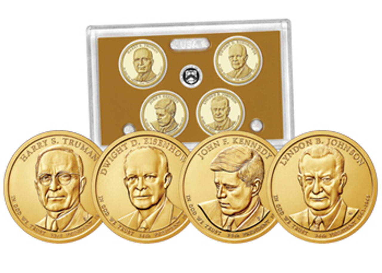 2015 Presidential Proof Set 4 Coins Image 1