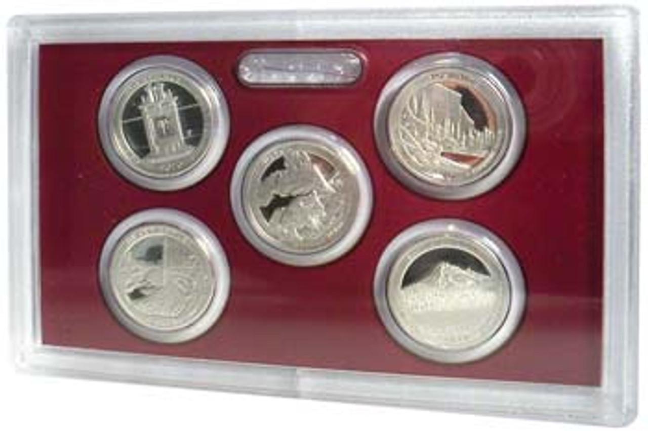 2010 National Parks Silver Quarter Proof Set 5 Coins Image 1