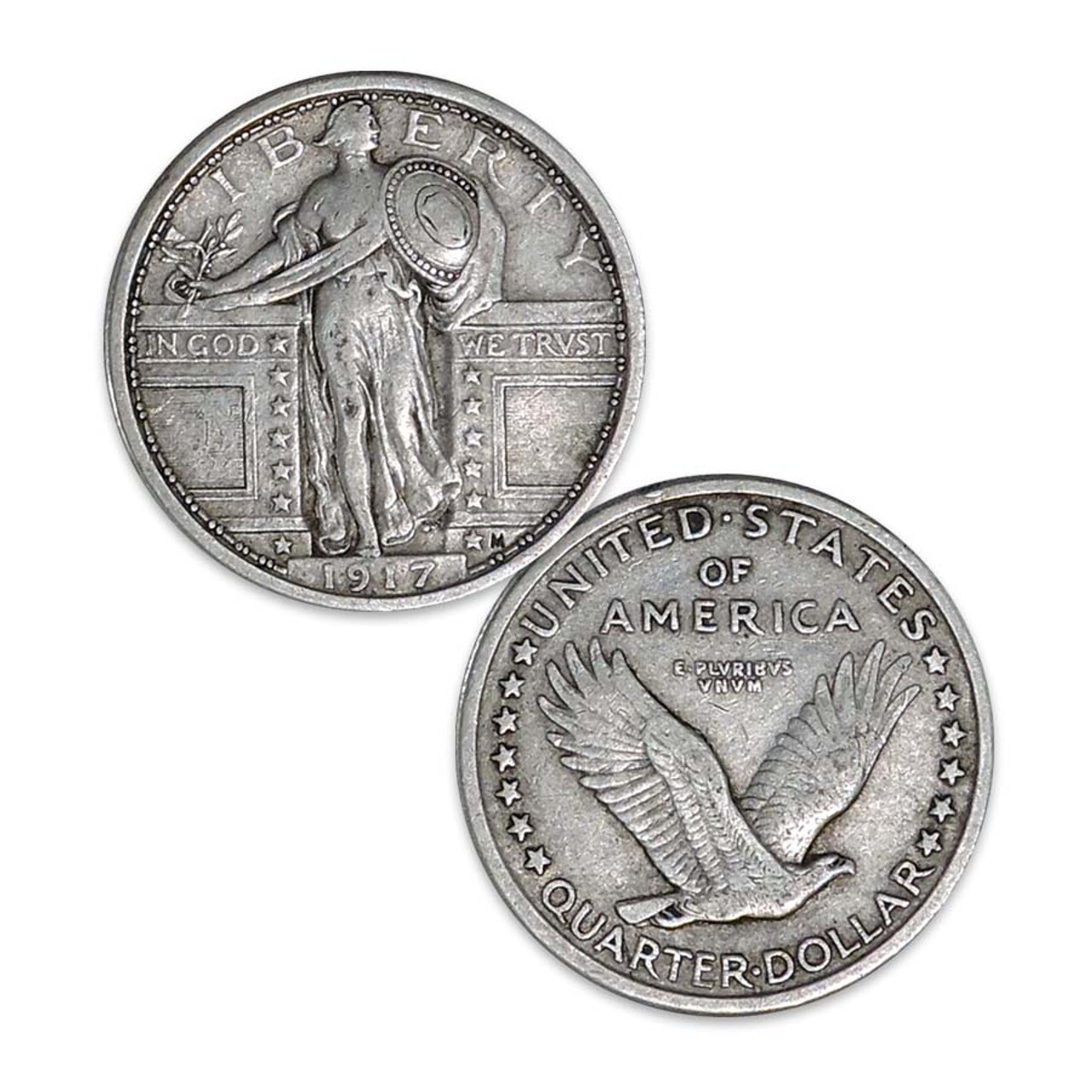 1917 Standing Liberty Silver Quarter Type I Fine Image 1