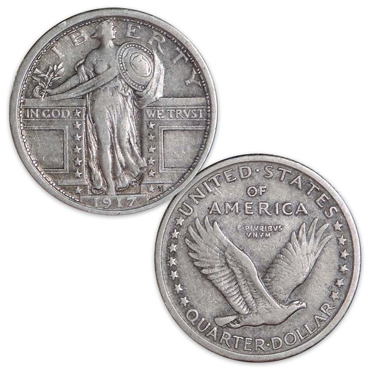 1917 Standing Liberty Quarter Type I Very Fine Image 1