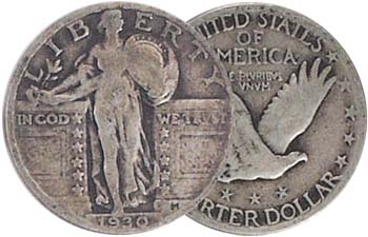 1930p Standing Liberty Silver Quarter Receive Coin Pictured Shipped In Holder