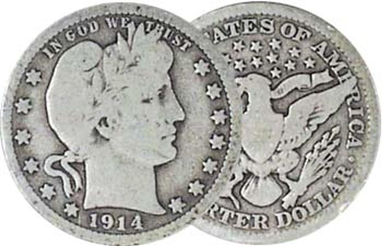 1892-1916 Liberty Barber Silver Quarter Good Image 1