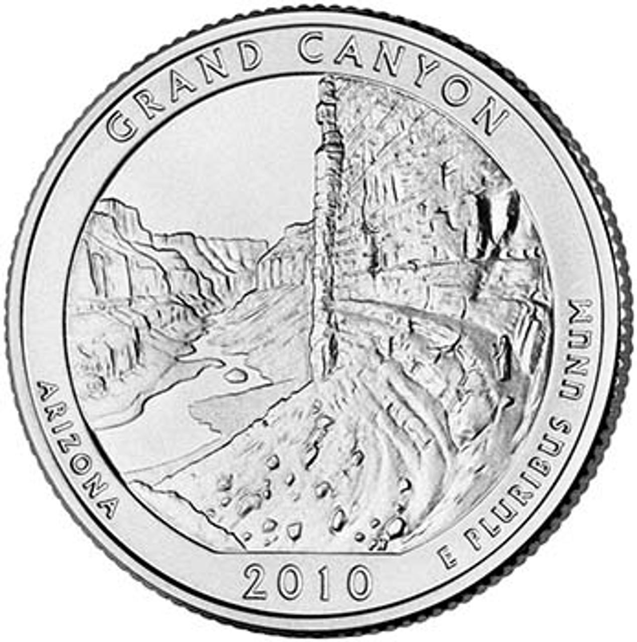 2010-P Grand Canyon National Park Quarter Brilliant Uncirculated Image 1