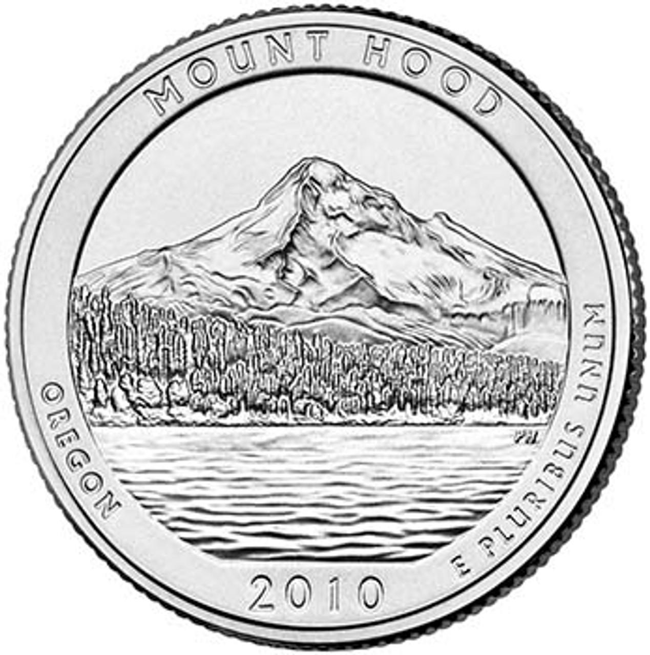 2010-P Mount Hood National Forest Quarter Brilliant Uncirculated Image 1