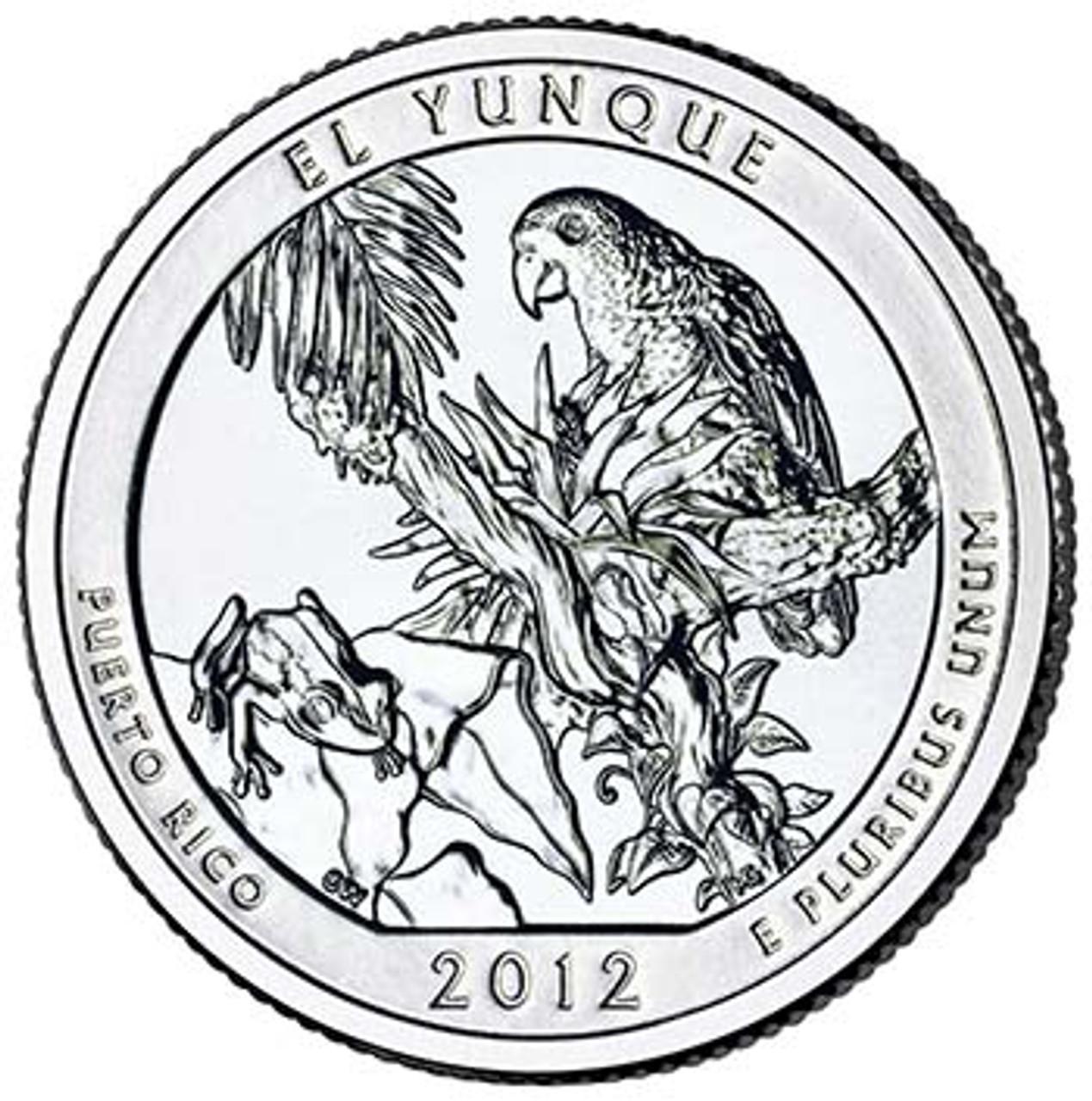 2012-D El Yunque National Forest Quarter Brilliant Uncirculated Image 1