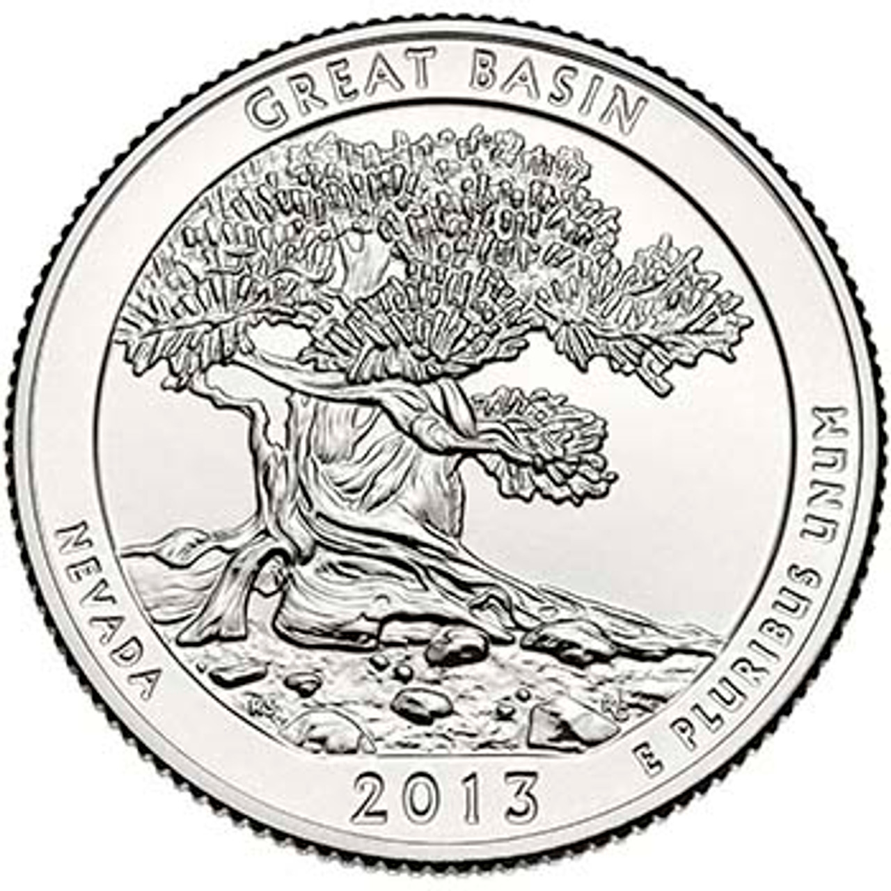2013-P Great Basin National Park Quarter Brilliant Uncirculated Image 1