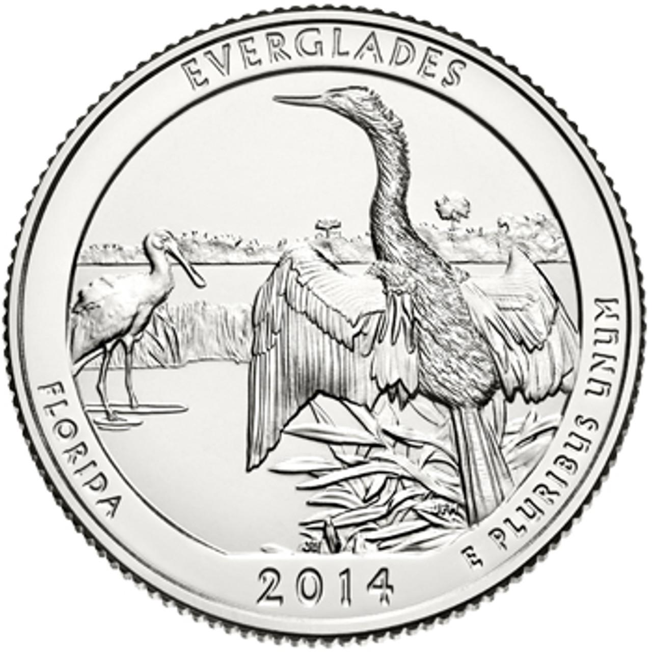 2014-D Everglades National Park Quarter Brilliant Uncirculated Image 1