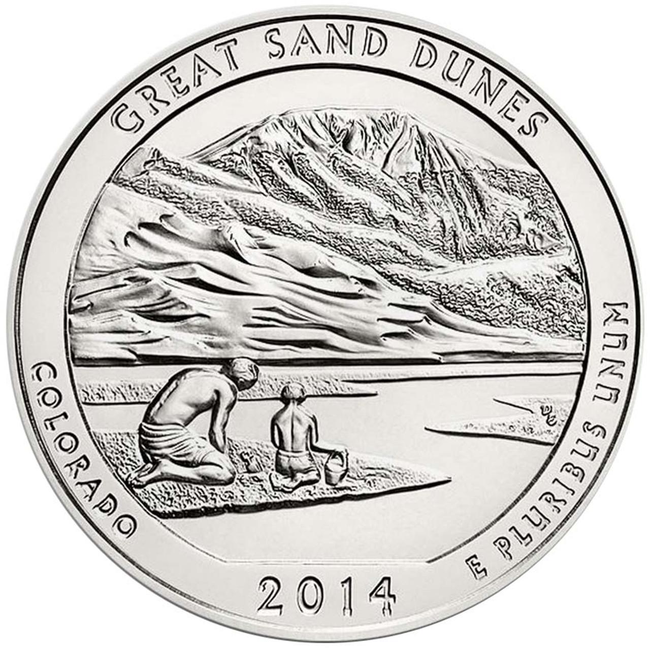 2014-P Great Sand Dunes National Park Quarter Brilliant Uncirculated Image 1